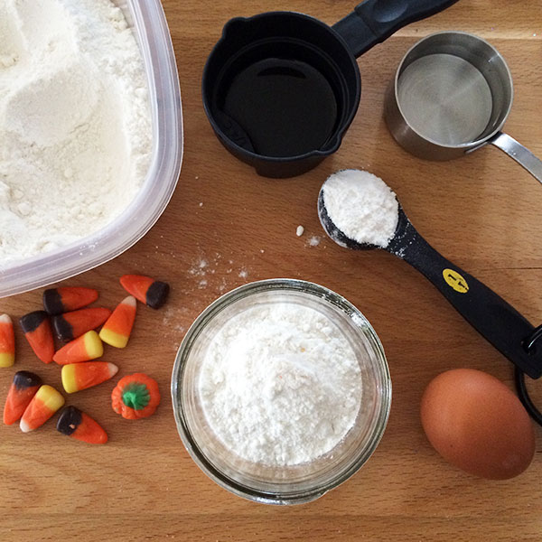 Candy Corn Cookies in a Jar - ingredients