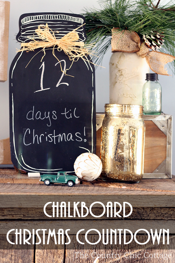 All you need for a Christmas countdown calendar is a chalkboard! See more here! Of course if it is shaped like a mason jar it makes your advent calendar even better!