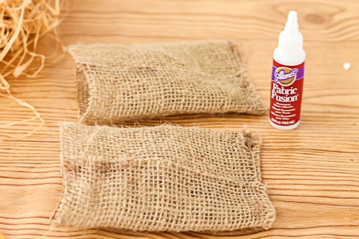 using fabric glue on burlap