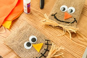 making treat bags for halloween