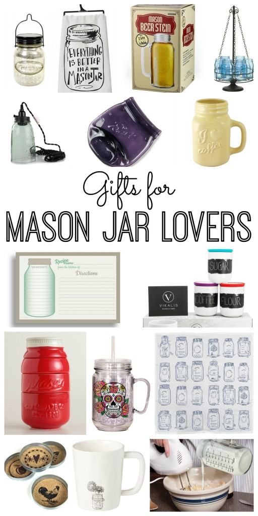 Gifts for mason jar lovers part 2 the country chic for Christmas gift ideas for kitchen lovers