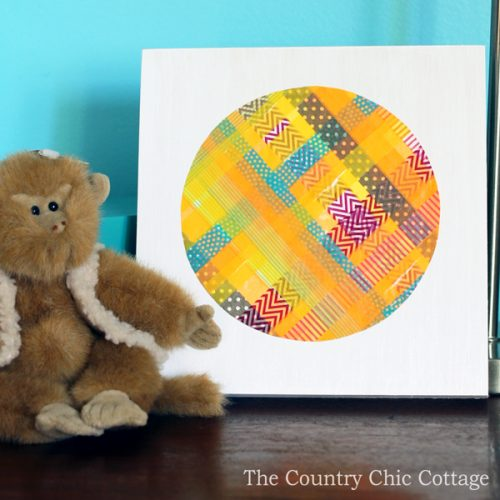 Make this washi tape art with your kids! A simple technique to layer washi tape and cut into any shape!