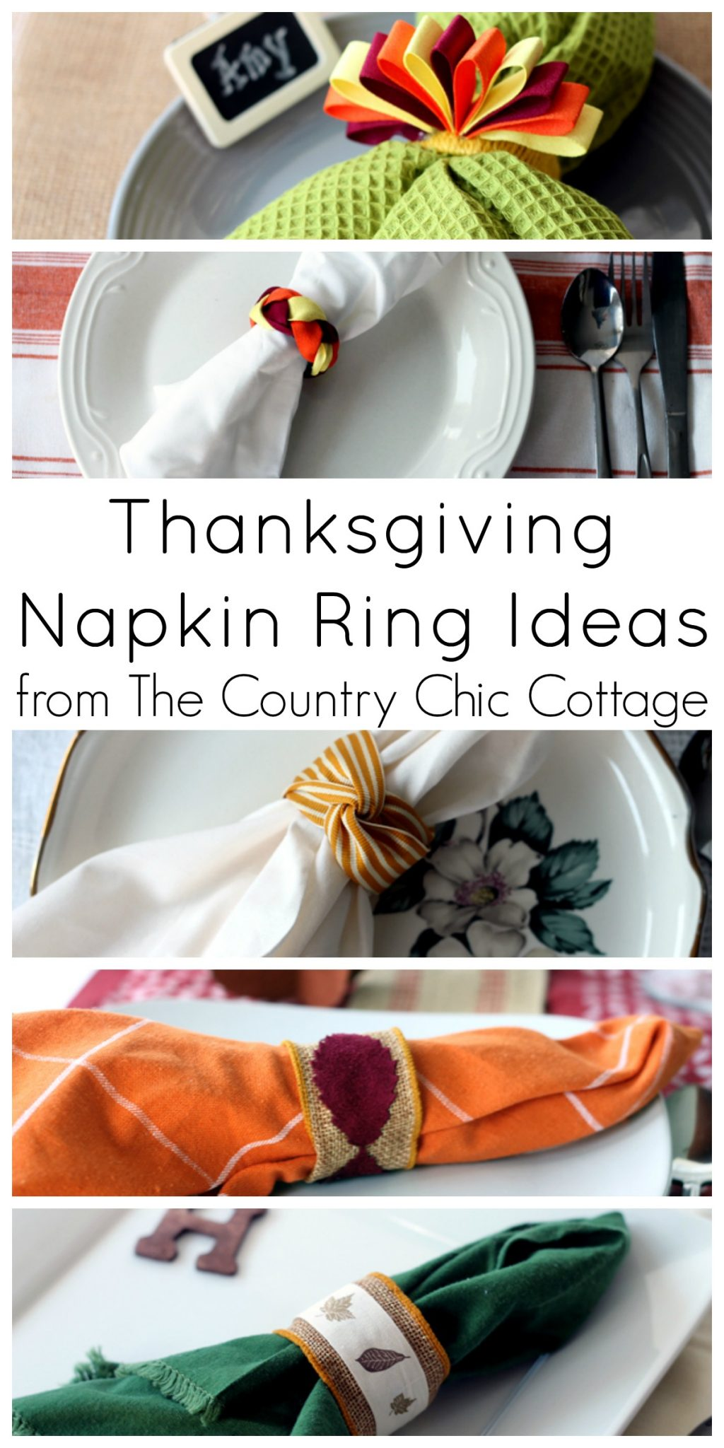 5 Thanksgiving Napkin Ring Ideas - The Country Chic Cottage