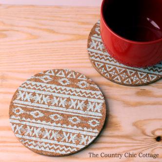 Handmade Gift:  Stenciled Trivets