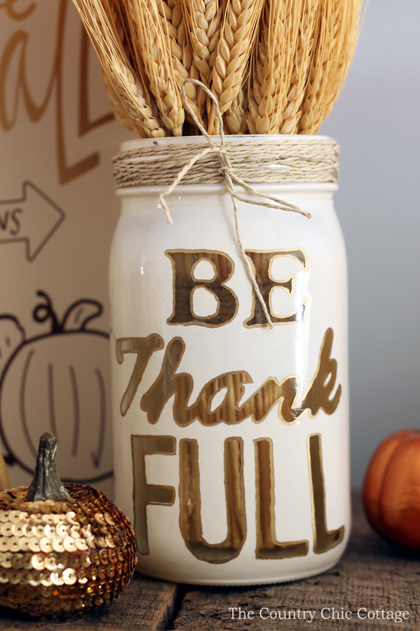 Thanksgiving Mason Jar Craft The Country Chic Cottage