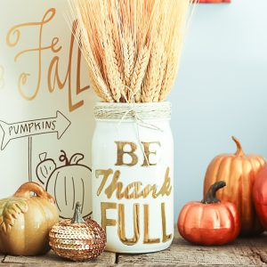 thanksgiving mason jars