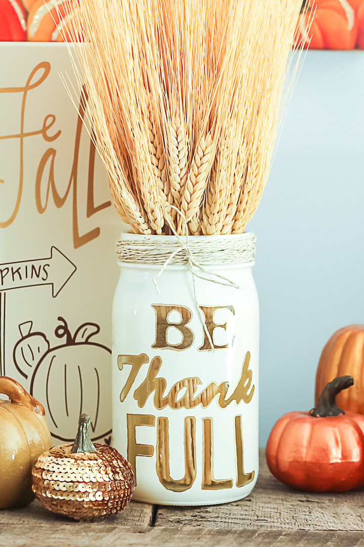thankful mason jars