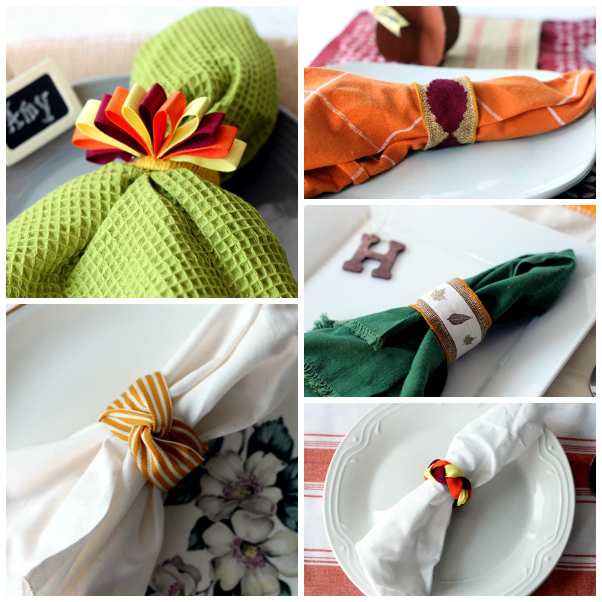 Thanksgiving Napkin Ring Ideas Five For Or Your Fall Dinner Party