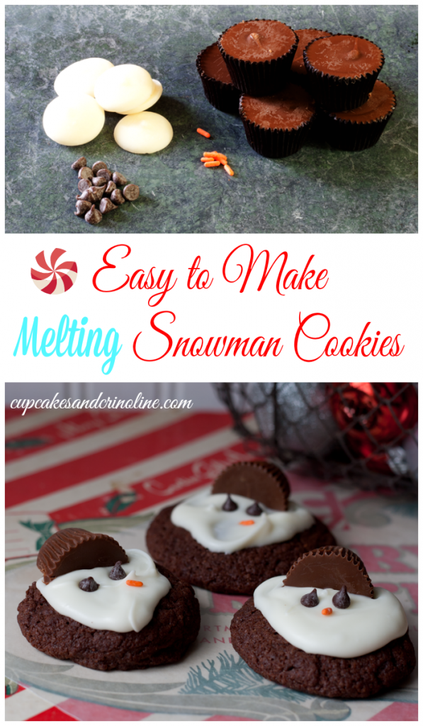 Easy to make melting snowman cookies