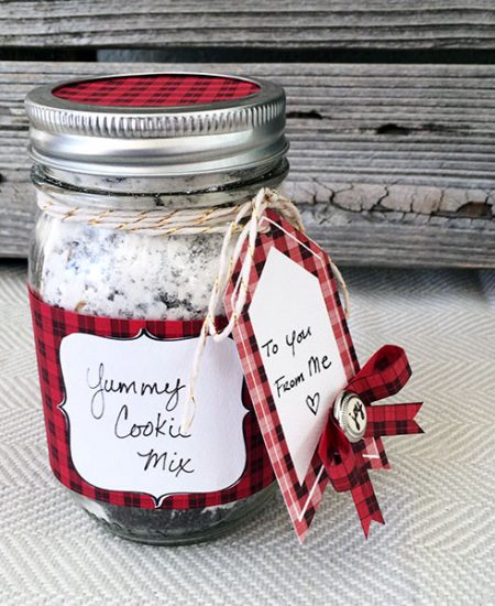 Pretty Plaid Mason Jar Gift