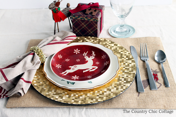 Christmas Place Settings christmas place setting - the country chic cottage