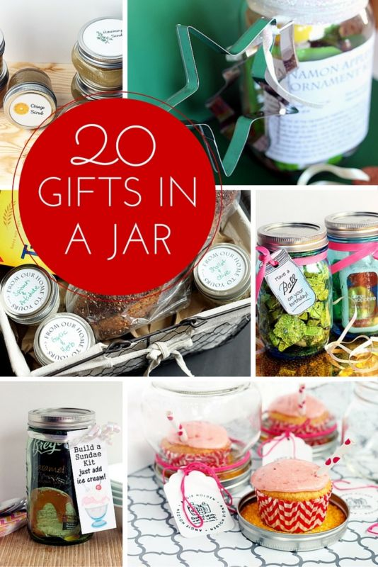 20 gifts in a jar for Christmas