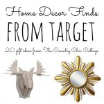 Home decor items from Target that you can't live without! A great gift guide for Christmas as well!