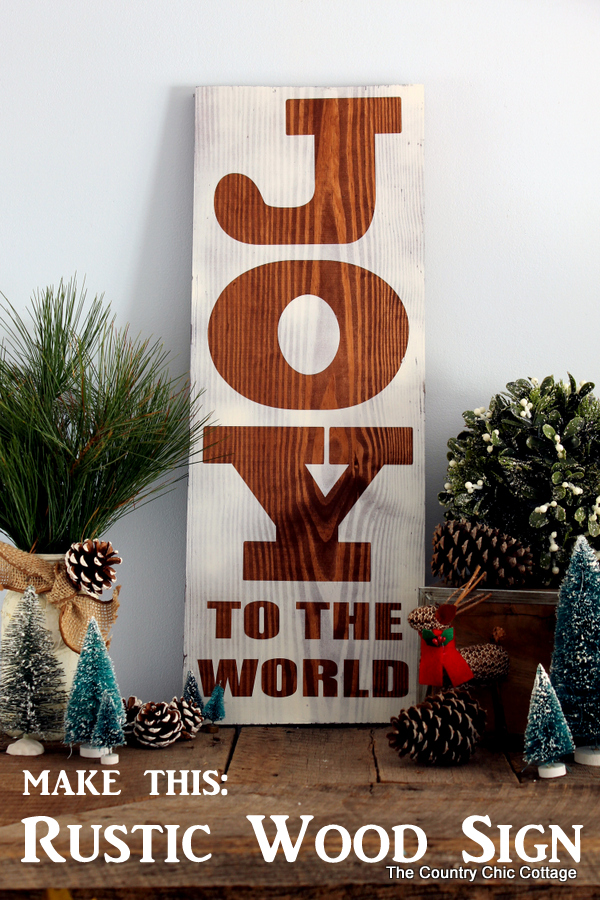 Make this rustic wood sign for Christmas! A super easy project that uses any board that you have on hand!