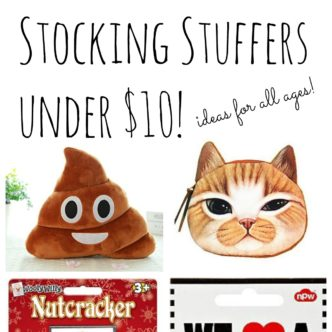 Stocking stuffer ideas under $10 for Christmas! Ideas for all ages!