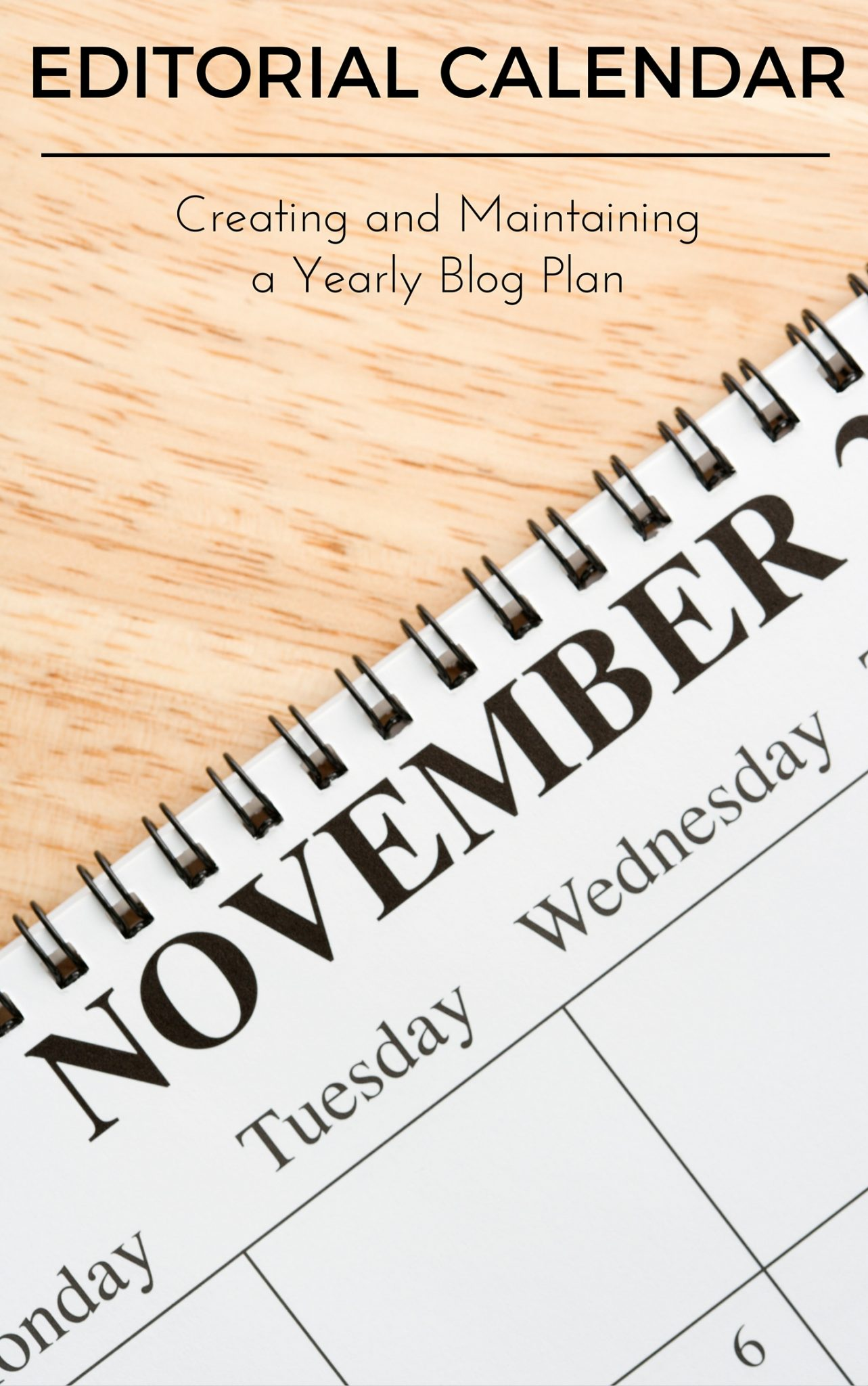 Ebook on creating and maintaing a yearly editorial calendar for your blog. A tried and true method that anyone can learn and implement for a more organized blog schedule.