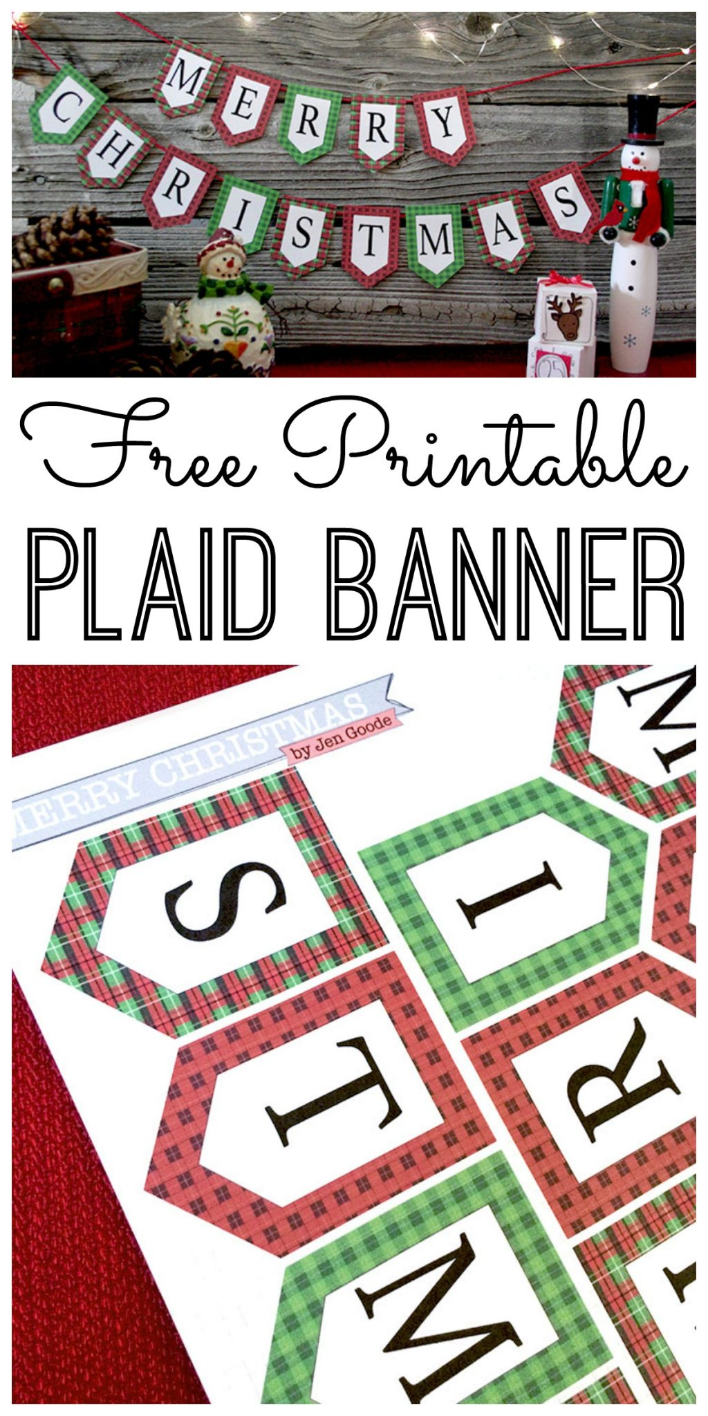 Crafty image in printable christmas banner