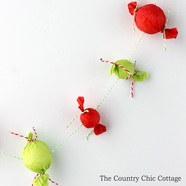 Christmas Candy Garland The Country Chic Cottage