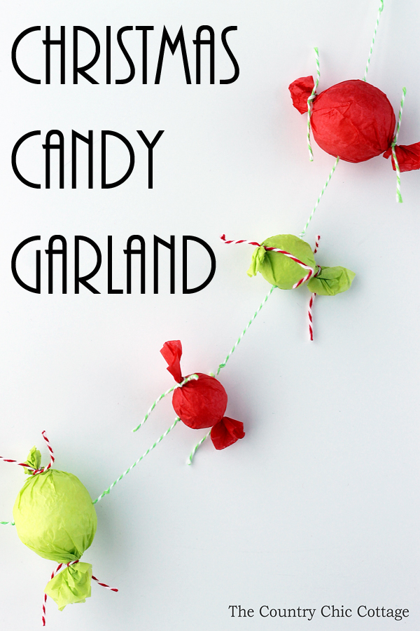 Make this Christmas candy garland for your tree this holiday season! A quick and easy craft that is perfect for kids!