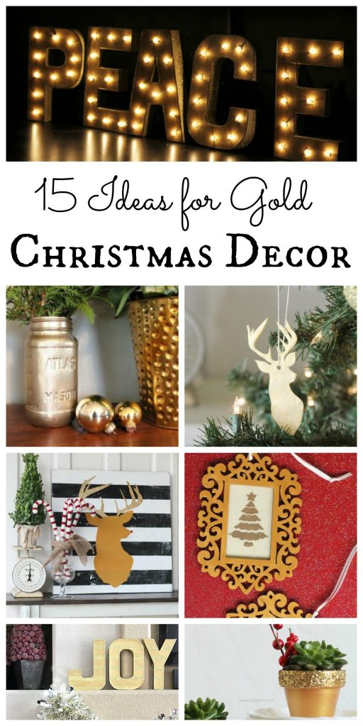 Gold Christmas Decor THE COUNTRY CHIC COTTAGE DIY