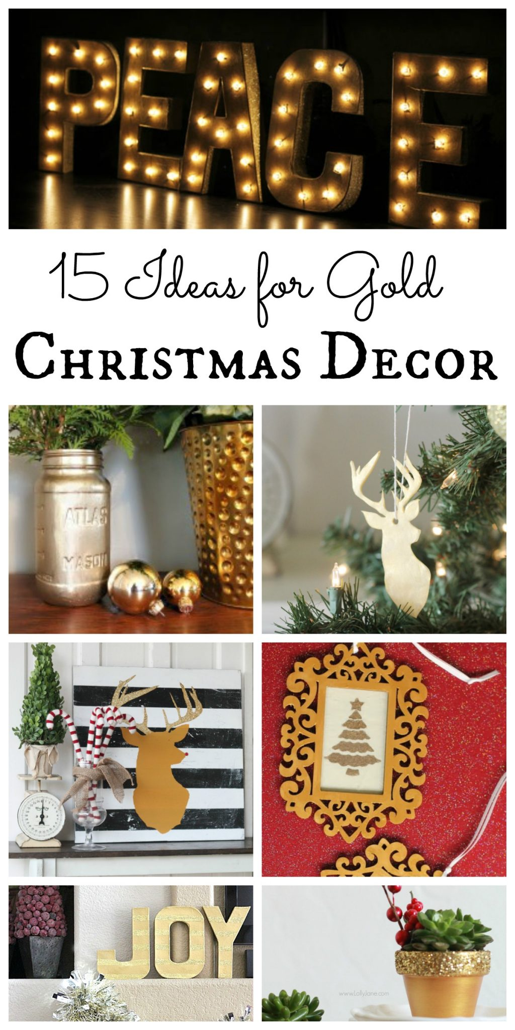 Gold Christmas Decor - The Country Chic Cottage