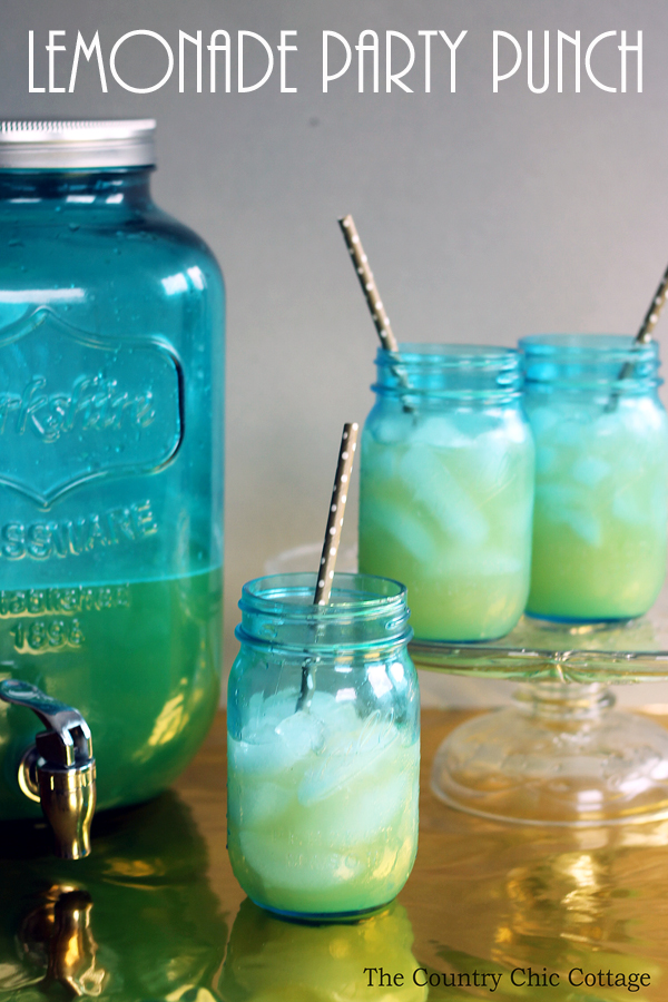 Make this lemonade party punch and impress your guests! Just a few ingredients and you will have a punch perfect for any party!