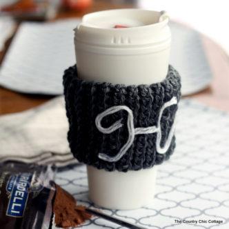Monogram Knit Coffee Sleeve