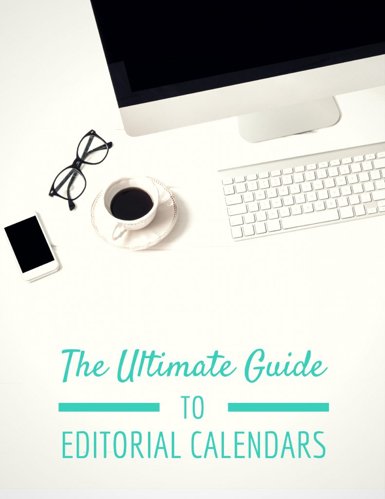 Every blogger needs this editorial calendar ebook that will help you schedule out a year's worth of content in a few hours!