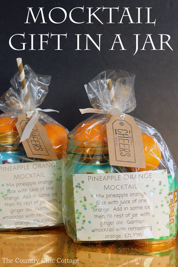 mocktail gift in a jar