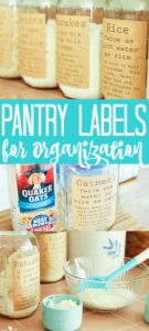 These free printable pantry organization labels are perfect for your kitchen! Pantry organization has never been easier or cuter than adding these labels to mason jars! #pantry #organization #kitchen #kitchenorganization #organized #labels #masonjars #organize #jar #freeprintable #printable #labels