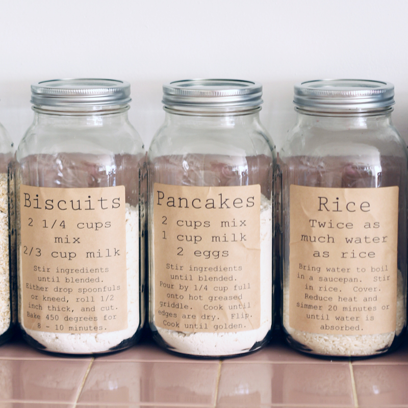 Print These Pantry Organization Labels For Free And Add To Your Kitchen.  Labels Include Recipe