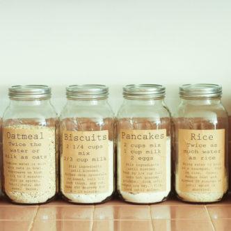 mason jars for organizing