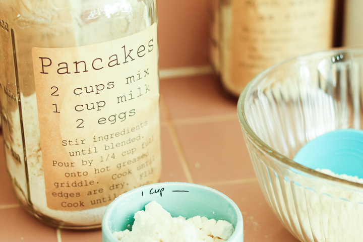 Print your own pancake mix labels and always have a reliable pancake recipe ready to go!