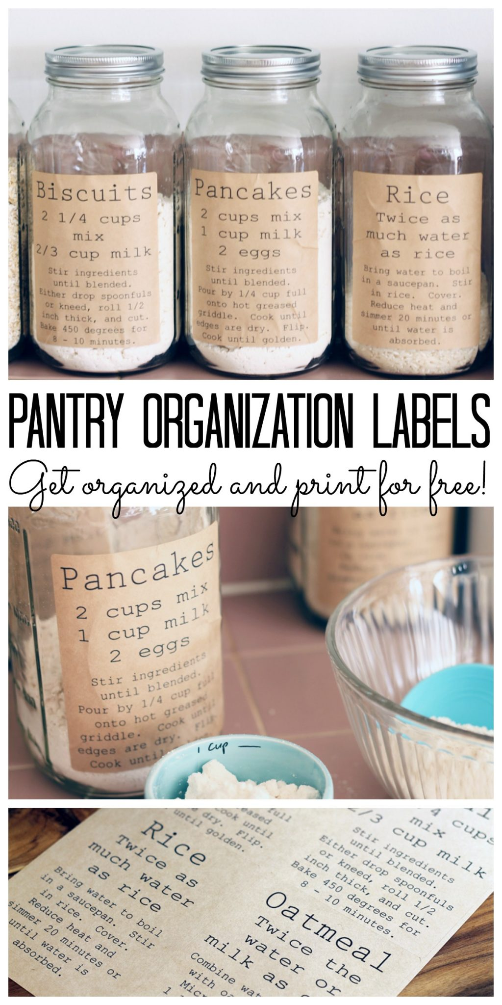 print these pantry labels for free and add to your kitchen labels include recipe