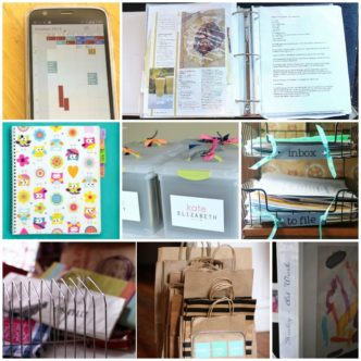Great organization ideas for paper! I need to clean up my clutter and try some of these ideas in my office!