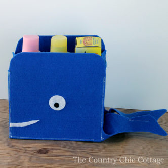 Sew Your Own Felt Storage Baskets