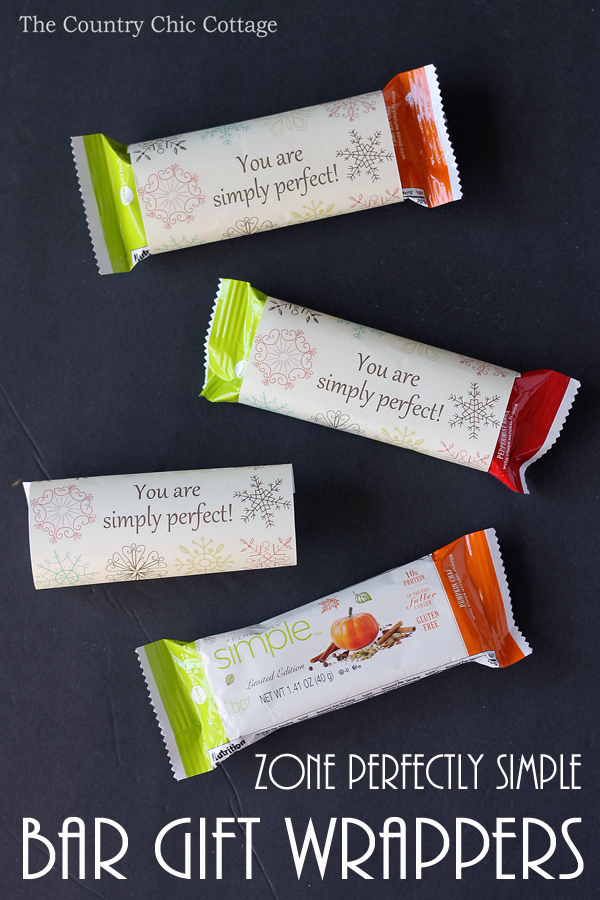 Print these bar gift wrappers for free and wrap a bar for a holiday gift idea! These are perfect for teachers, coaches, mail men, neighbors and so much more! Tell the they are simply perfect!