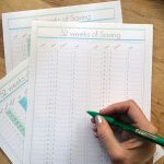 52 weeks of saving printable tracking kit by Jen Goode