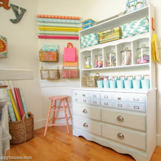 Take tours of over 25 amazing craft room in this series! A great way to get inspired for your own craft room!
