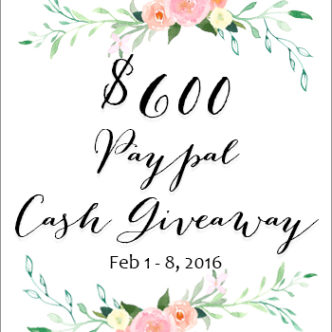 Enter to win a $600 cash giveaway here!