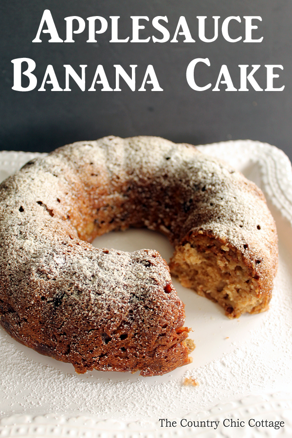 Applesauce Banana Cake Recipe The Country Chic Cottage