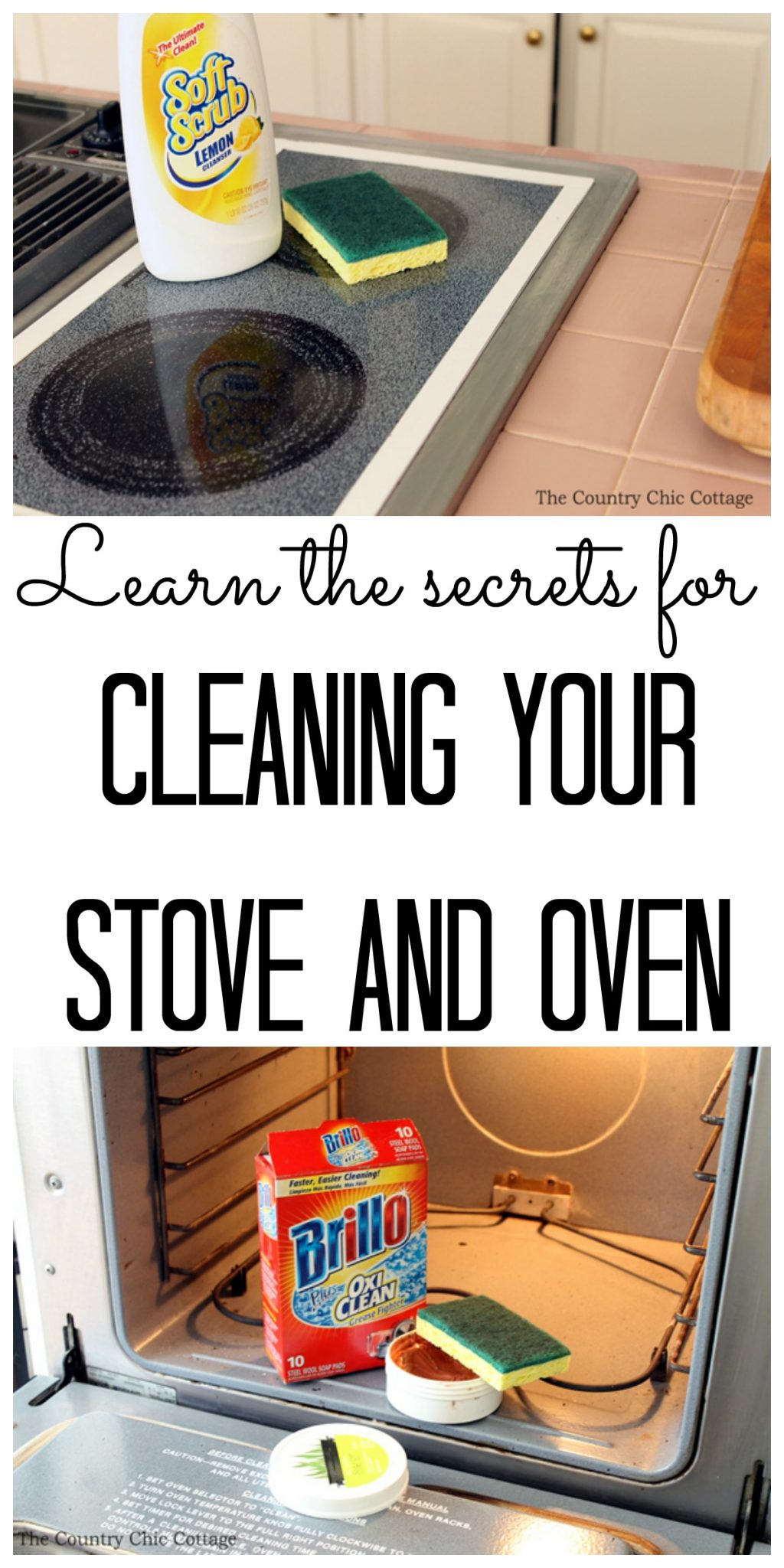 cleaning you stove and oven collage