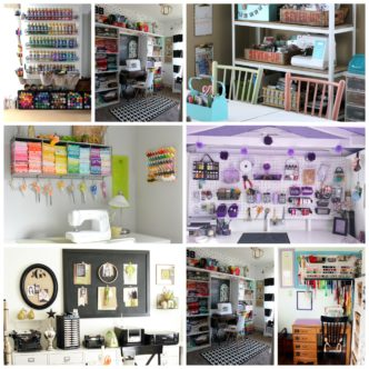 Over 25 amazing organized craft room tours! Get inspired to create your own craft studio with these organized craft rooms!