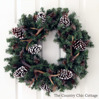 DIY Antler Wreath in 10 minutes!