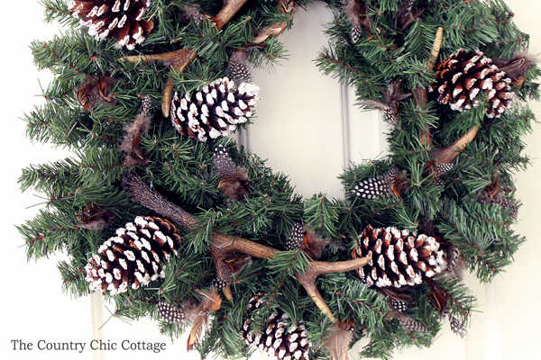 This DIY antler wreath is perfect for your home this winter! Grab your supplies and make this rustic addition to your home today!
