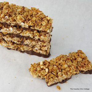 You will love this homemade chocolate dipped granola bars recipe! Make this healthy recipe for your family today!