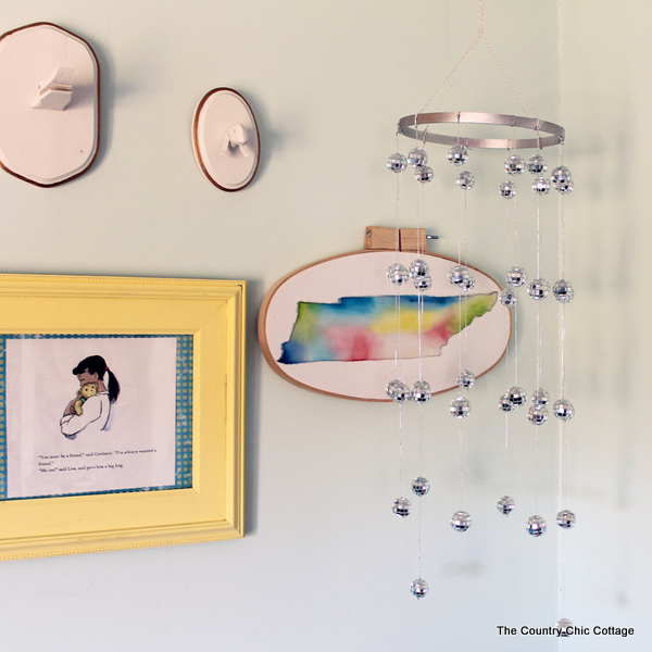 Make your own disco ball chandelier for any room in your home with this great craft tutorial!