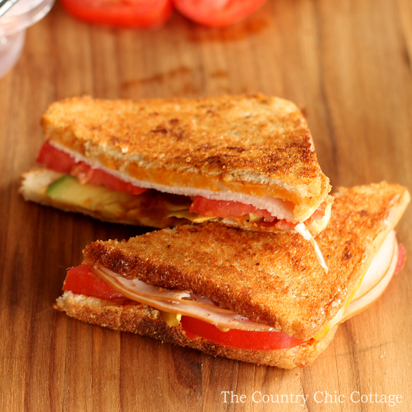 Make this turkey avocado melt for lunch or anytime! The delicious addition of chipotle really makes this sandwich stand out!