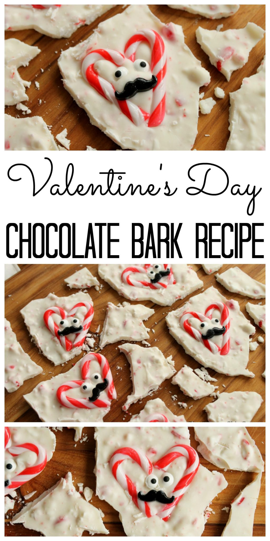Valentine's Day Chocolate Bark by The Country Chic Cottage