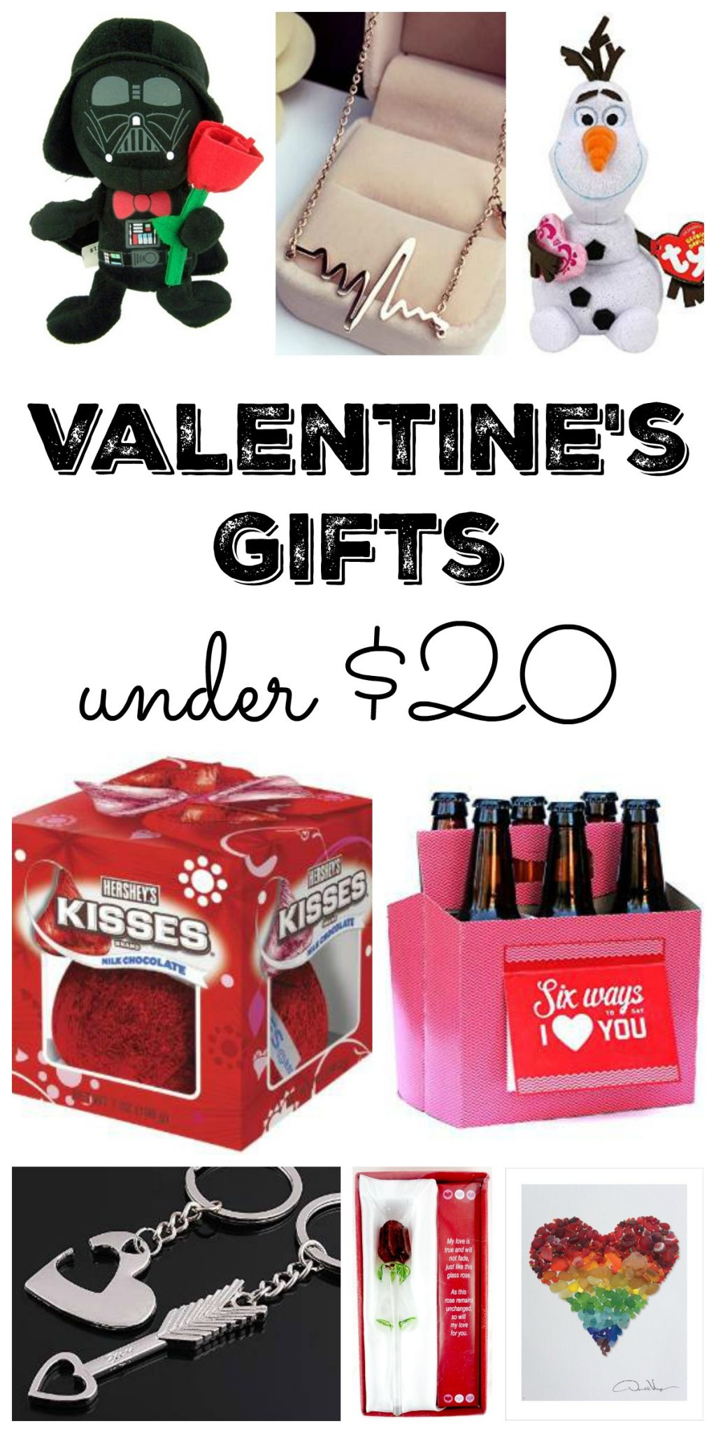 Great ideas for Valentine's gifts under $20! Get inspired to get something for your love even if you are on a budget! Great ideas for Valentine's Day!